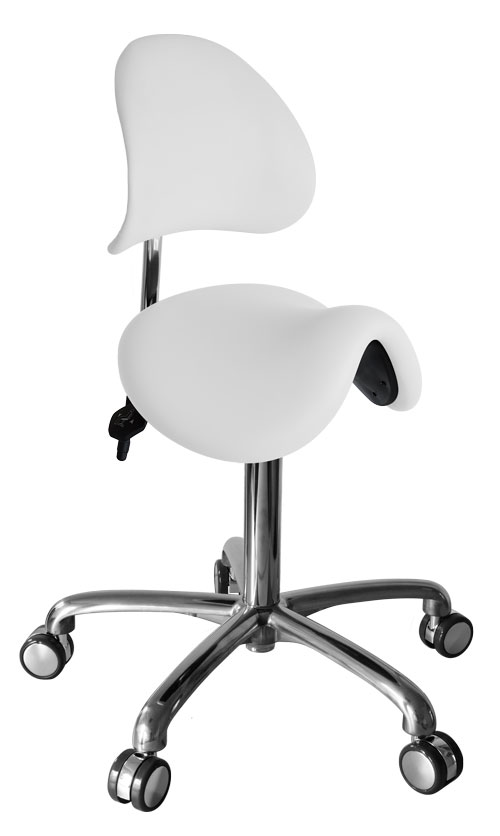 Werkstoel/Tabouret Lende (ponyzit met rugleuning)