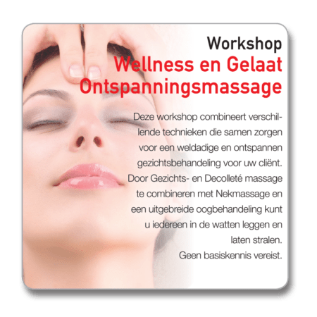 Workshop Wellness ontspanningsmassage gelaat