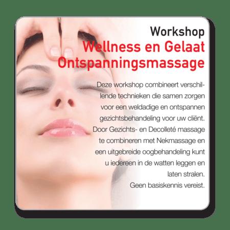 Workshop Wellness ontspanningsmassage gelaat
